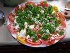 салат помидорная роза