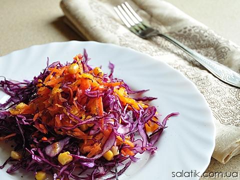 салат с синей капусты