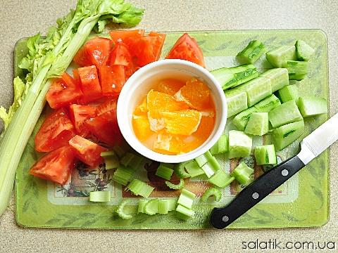 фитнес салат с сельдереем фото