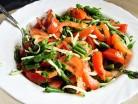 салат со спражевой фасолью