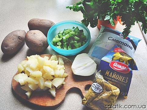 датский картофельный салат пошагово