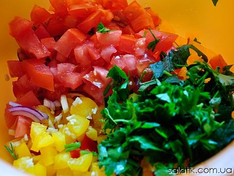 салат в лаваше нарезка