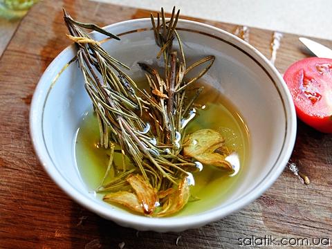 фасолевый салат с розмарином