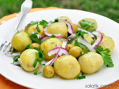 салат с молодым картофелем
