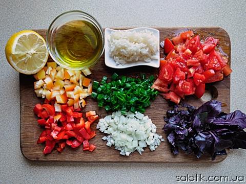 рисовый салат с овощами пошагово