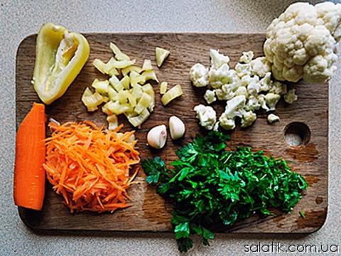 салат с цветной капустой и морковью пошагово
