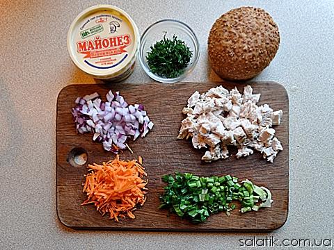 салат с курицей и сельдереем пошагово