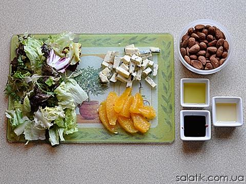 салат с сыром с плесенью и апельсином фото