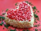 салат с гранатом валентинка