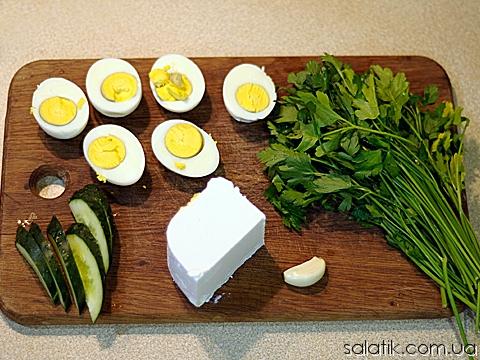 салат из яиц с фото
