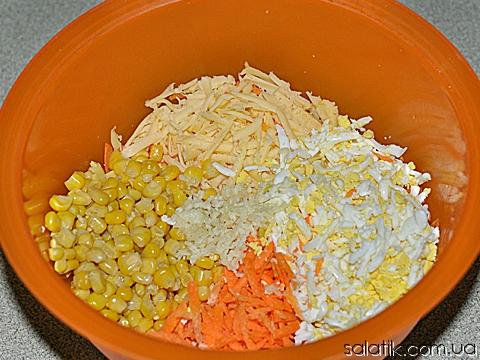 кукурузный салат с вафлями