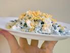 салатик со спаржевой фасолью и яйцами