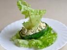 салат с печеным мясом в авокадо