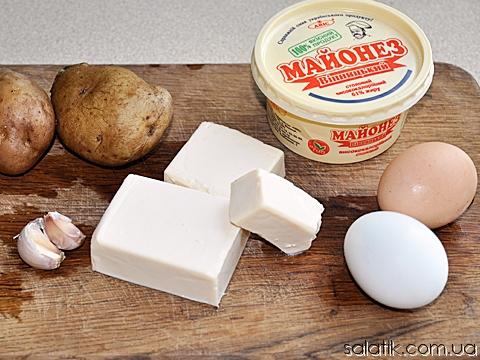 салат пасхальный с сыром продукты