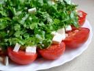 быстрый салат с помидорами