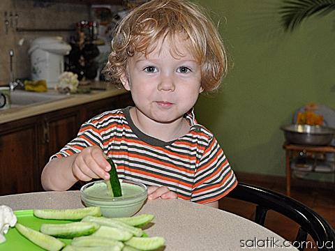 витаминный соус с овощами проба