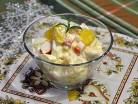 салатк с крабовыми палочками и апельсином