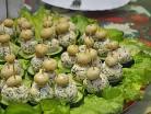 салат сырное Рафаэлло с шампиньонами