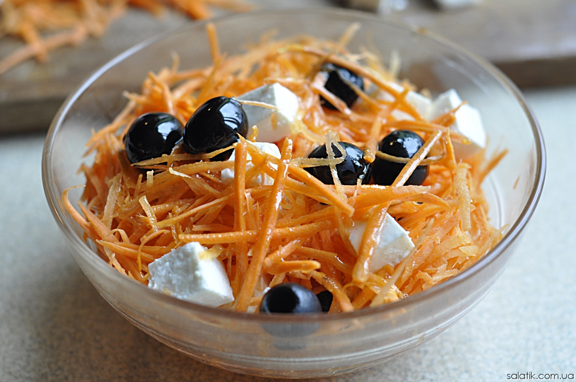 салат из морковки и фета