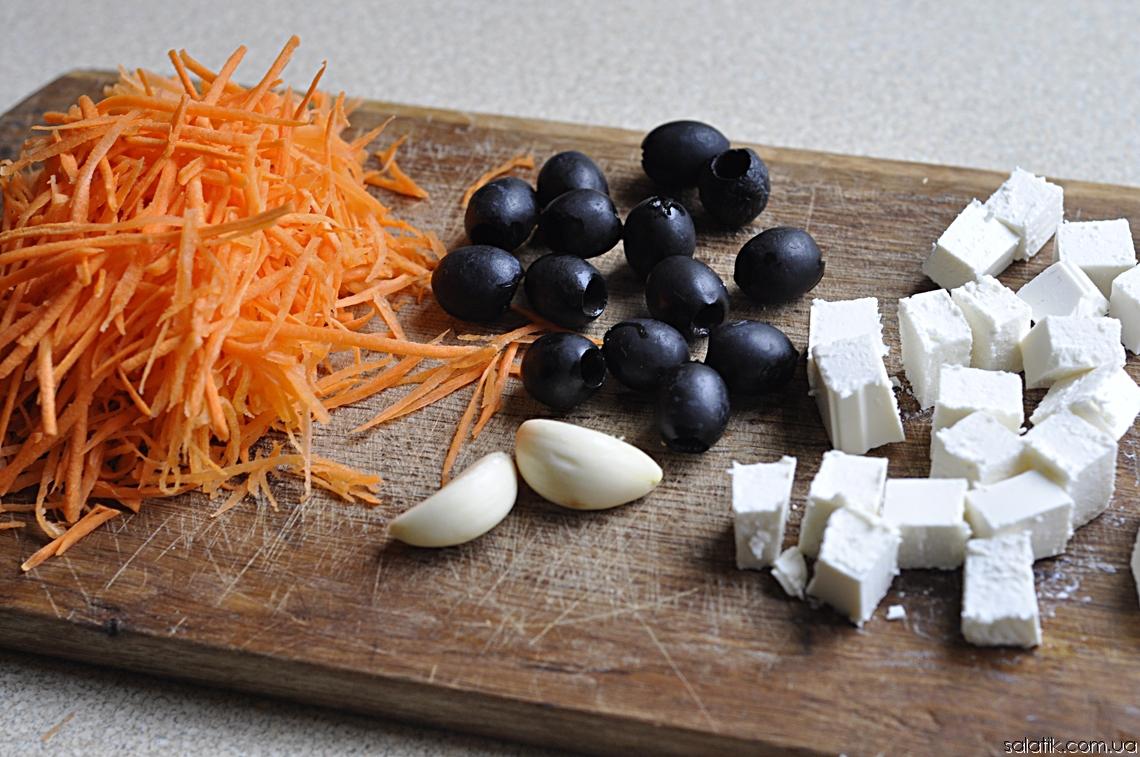 салат из морковки и фета продукты