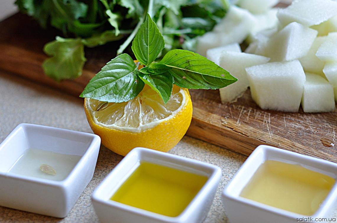 летний салат с дыней заправка