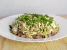салатик с ветчиной фасолью и домашним майонезом