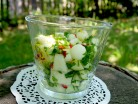салат с огурцом и дыней