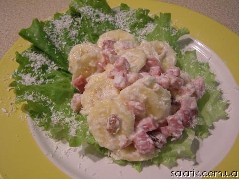 салат с бананами