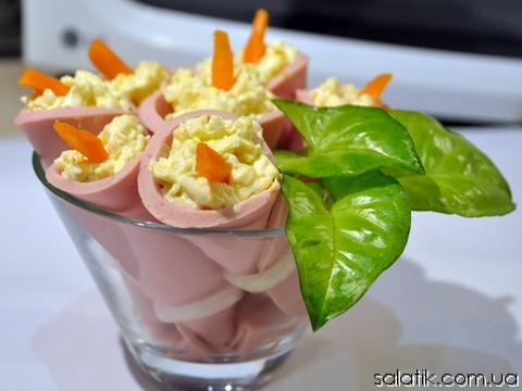 салат каллы рецепт с фото