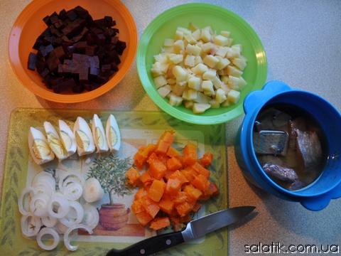 салат с селедкой и картошкой пошагово фото