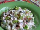 салат с курицей и оливками фото