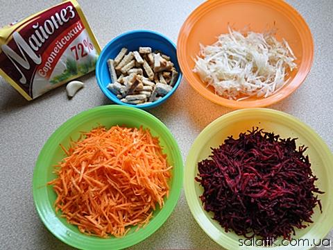 салат из свежих овощей пошагово фото