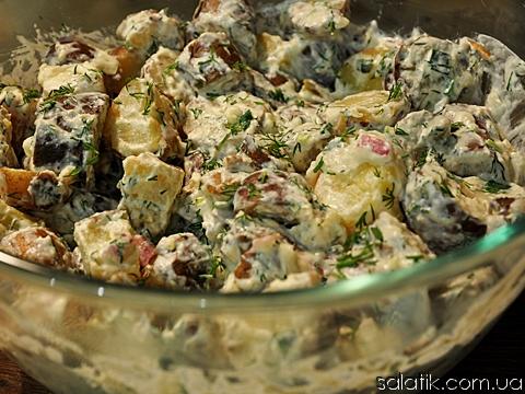 картофельный салат с хреном рецепт фото