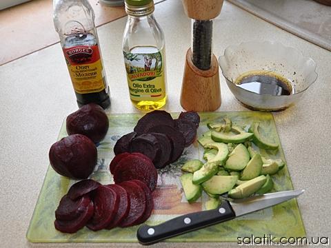 салат с авокадо пошагово фото