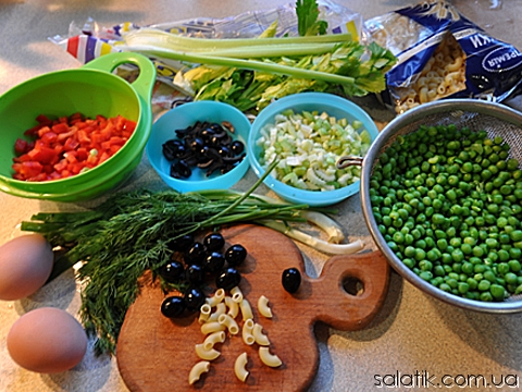 макаронный салат фото