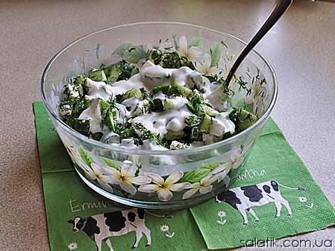 салат с огурцом и сыром фета