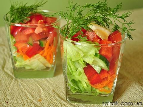 фитнес салат с овощами