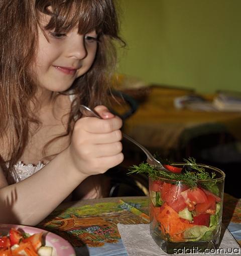 фитнес салат с овощами рецепт